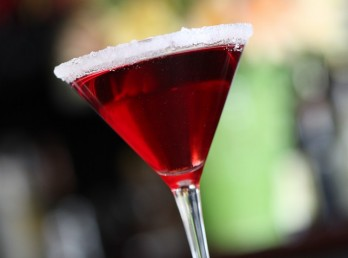 French Kiss Martini, a staple at Square Cafe