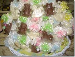 assorted chocolate baby favors